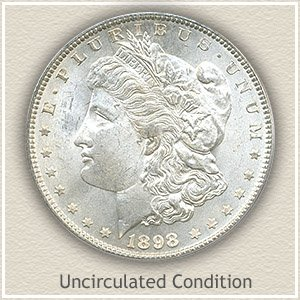 1898 Morgan Silver Dollar Uncirculated Condition