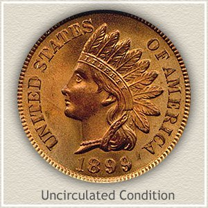 1899 Indian Head Penny Uncirculated Condition