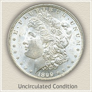 1899 Morgan Silver Dollar Uncirculated Condition
