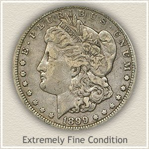 1899 Morgan Silver Dollar Extremely Fine Condition