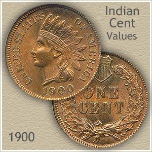 Uncirculated 1900 Indian Head Penny