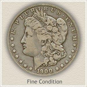 1900 Morgan Silver Dollar Fine Condition