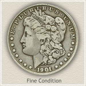 1901 Morgan Silver Dollar Fine Condition