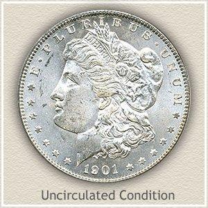1901 Morgan Silver Dollar Uncirculated Condition