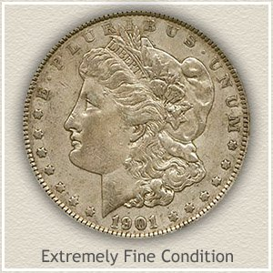 1901 Morgan Silver Dollar Extremely Fine Condition
