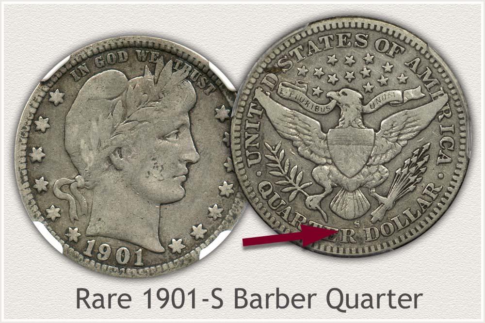 1901-S Barber Quarter