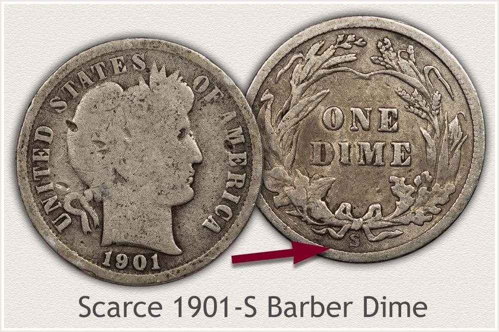 1901-S Barber Dime