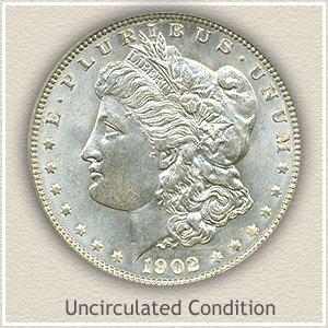 1902 Morgan Silver Dollar Uncirculated Condition