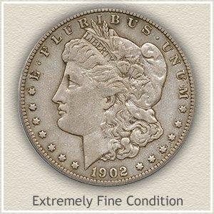 1902 Morgan Silver Dollar Extremely Fine Condition