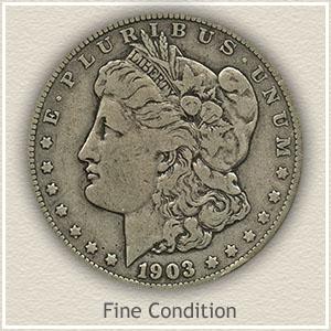 1903 Morgan Silver Dollar Fine Condition