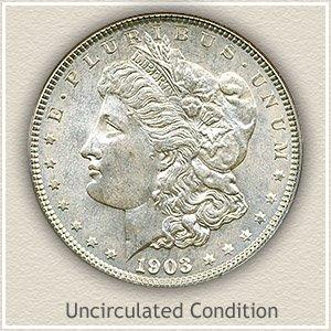 1903 Morgan Silver Dollar Uncirculated Condition