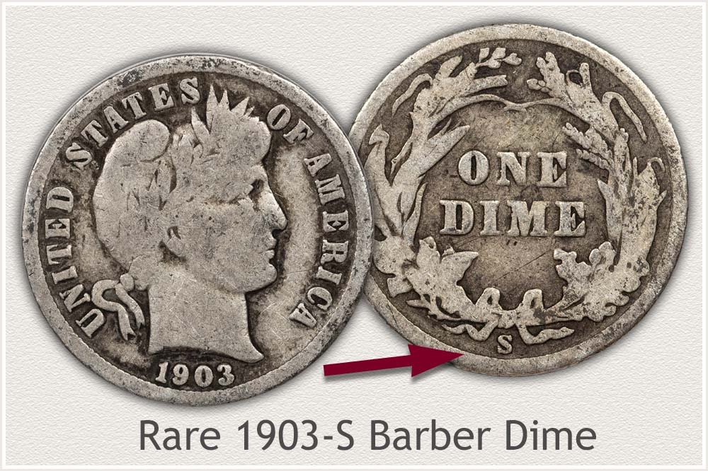 1903-S Barber Dime