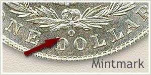 Mintmark Location 1903 Morgan Silver Dollar