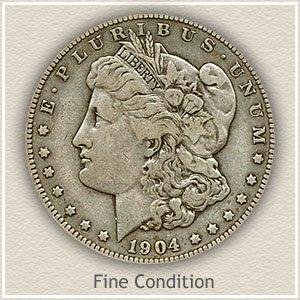 1904 Morgan Silver Dollar Fine Condition