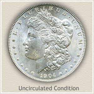 1904 Morgan Silver Dollar Uncirculated Condition