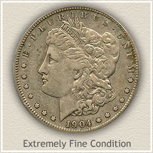 1904 Morgan Silver Dollar Extremely Fine Condition