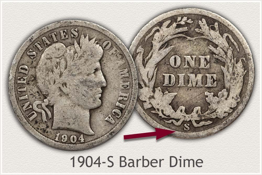 1904-S Barber Dime