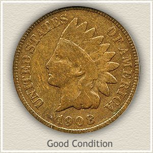 1908 Indian Head Penny Good Condition