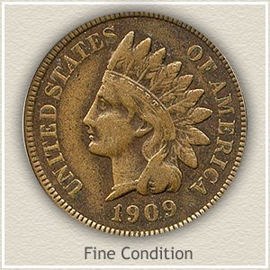 1909 Indian Head Penny Fine Condition
