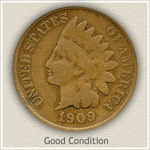 1909 Indian Head Penny Good Condition