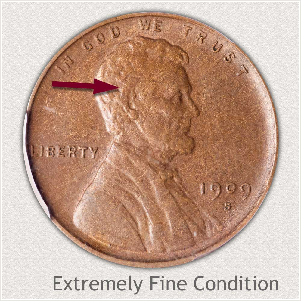 Extremely Fine Grade 1909 Lincoln Penny