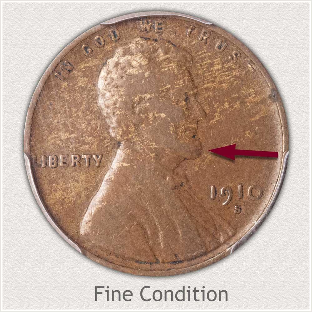Fine Grade 1910 Lincoln Penny