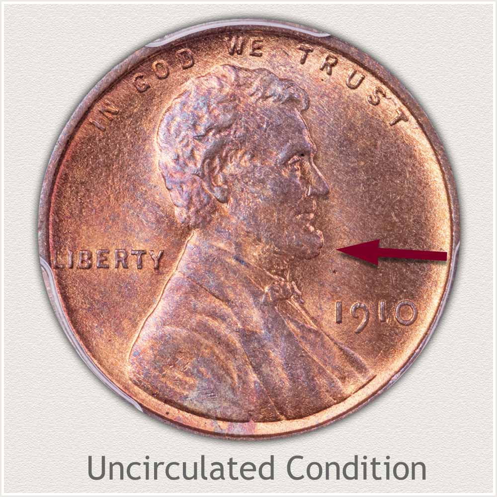 Uncirculated Grade 1910 Lincoln Penny