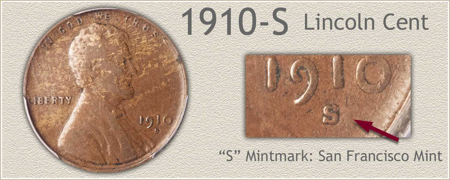 1910-S Lincoln Penny