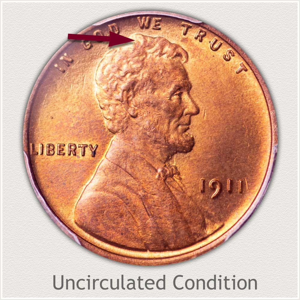 Uncirculated Grade 1911 Lincoln Penny
