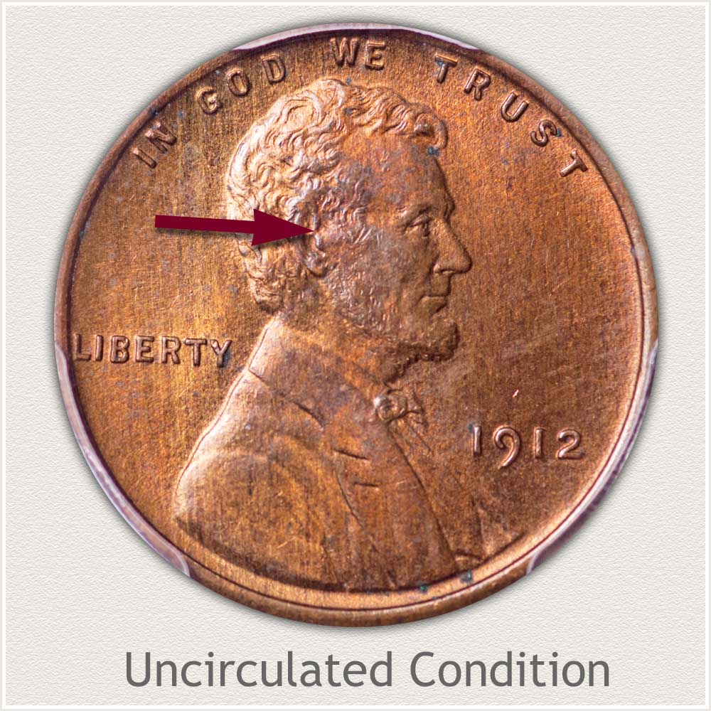 Uncirculated Grade 1912 Lincoln Penny
