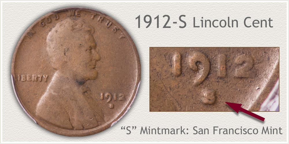 1912-S Lincoln Penny