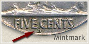 1913 Nickel D Mintmark Location