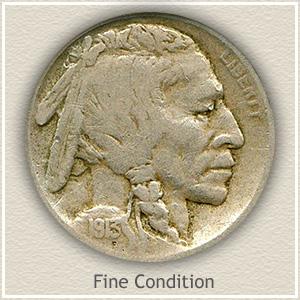 1913 Nickel Fine Condition