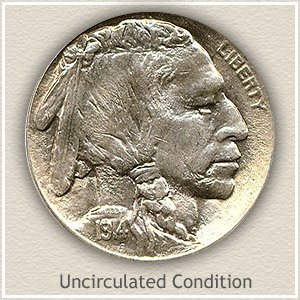 1914 Nickel Uncirculated Condition