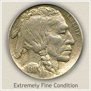 1914 Nickel Extremely Fine Condition