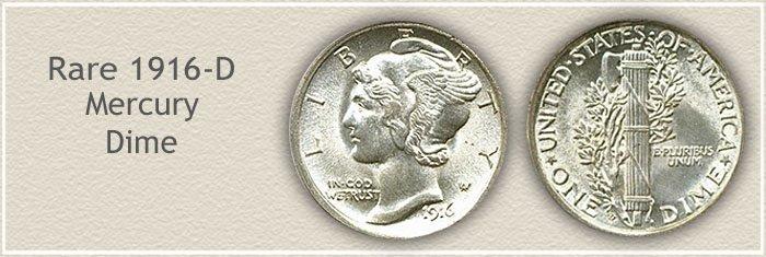 Rare 1916-D Mercury Dime