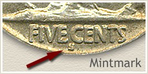 1916 Nickel S Mintmark Location