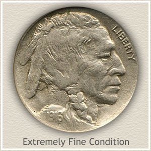 1916 Nickel Extremely Fine Condition