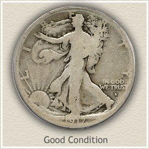 1917 Half Dollar Good Conditon