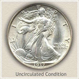 1917 Half Dollar Uncirculated Conditon