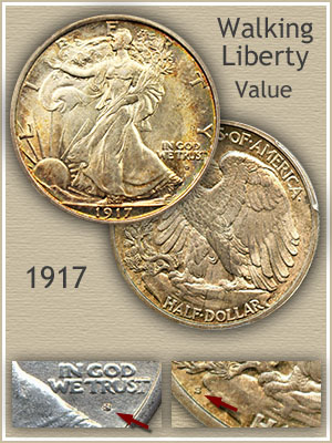 Uncirculated 1917 Half Dollar Value