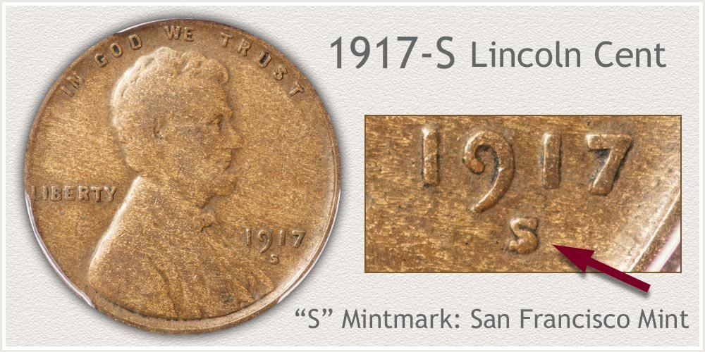 1917-S Lincoln Penny