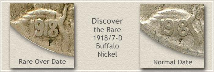 1918/17 Nickel Over Date