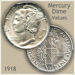 Uncirculated 1918 Dime Value