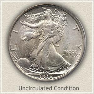1918 Half Dollar Uncirculated Condition