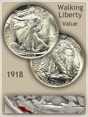 Uncirculated 1918 Half Dollar Value