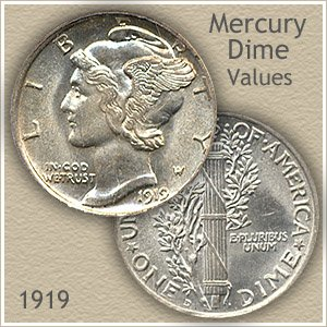 Uncirculated 1919 Dime Value