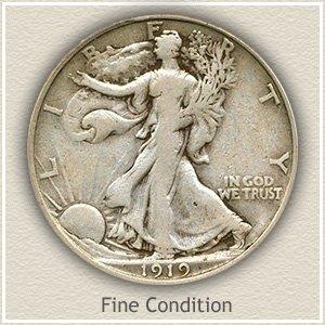 1919 Half Dollar Fine Condition