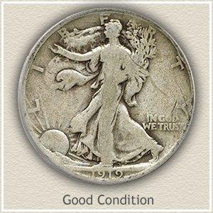 1919 Half Dollar Good Condition
