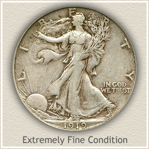1919 Half Dollar Extremely Fine Condition